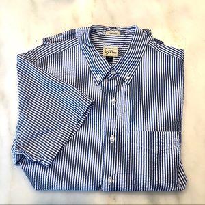 J.Crew SS Seersucker Shirt, Organic Cotton Blur